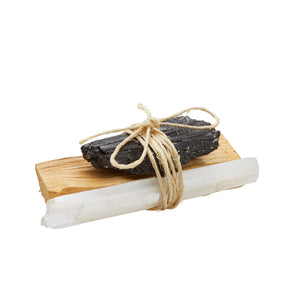 BLACK TOURMALINE: Palo Santo Bundle