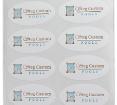 Custom Labels, Paper Oval