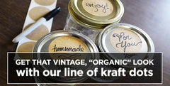 Kraft Paper Labels & Dots