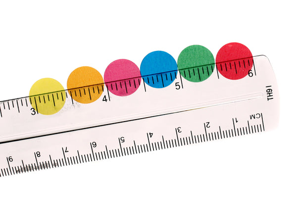 Translucent, Colored Circle Labels - 0.5 inch diameter