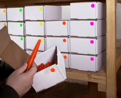 organizing with color coding dots