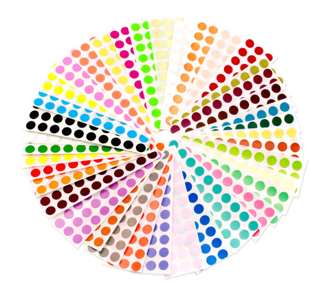 brightly colored dots