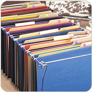 File Cabinet with Color Marked Folders