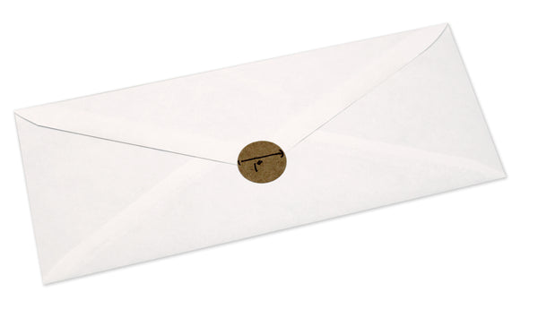 Using a Kraft dot to seal an envelope with style, baby.