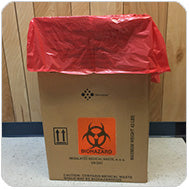 Biohazard Marking Disposable Hazardous Waste