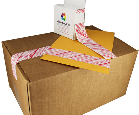 tamper evident security tape used for shipping box and manilla envelope