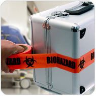 Wrap Items in Biohazard Tape