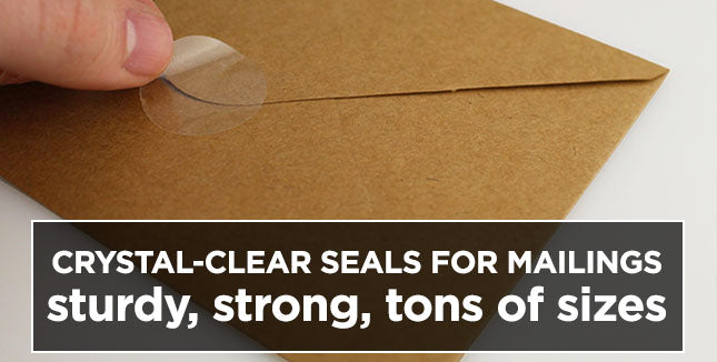Hand Presses Clear Seal to Envelope