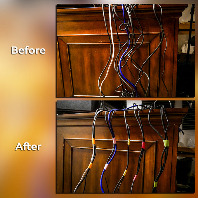 Organizing Wires Before and After