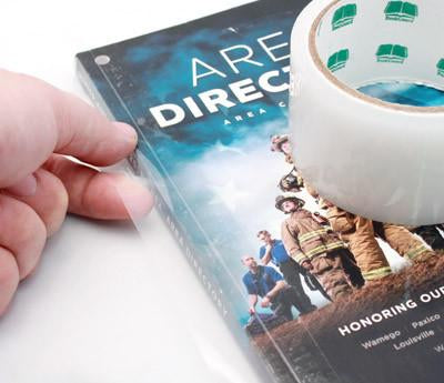 clear stretchable tape book repair