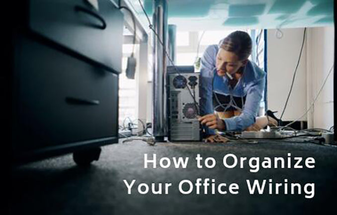 Organize Messy Office Wires