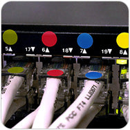 IT Ethernet Label cable management routing