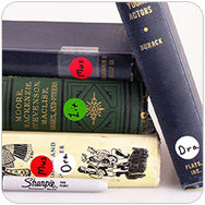 label books library color code