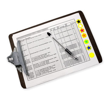 Color Coded Order Processing Clip Board