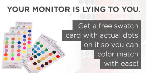 Get a free swatch card to see the actual dot colors