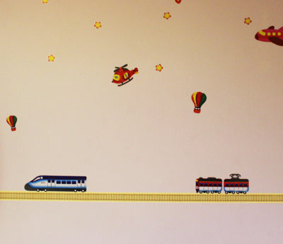 "1.5"" Train Track Tape Bedroom Decoration"