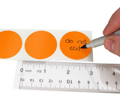 "1.5"" Writable Circle Labels"
