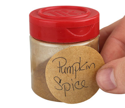 "1.5"" Kraft Spice Jar Label"