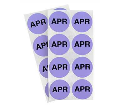 "1.5"" Lavender April Month Labels"