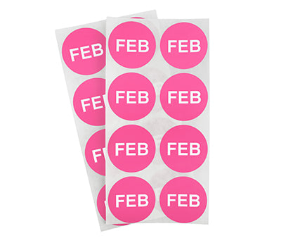 "1.5"" Rose February Month Labels"