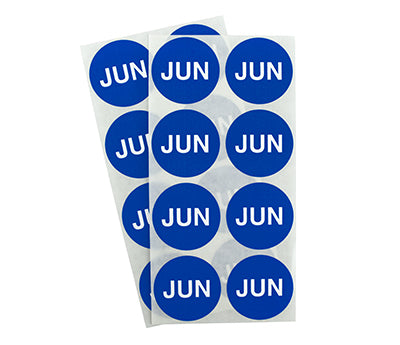 "1.5"" Dark Blue June Month Labels"