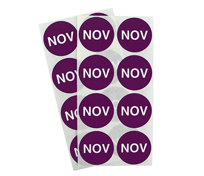 "1.5"" Purple November Month Labels"
