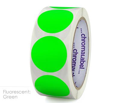 "1.5"" Removable Neon Green Labels"