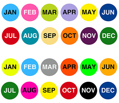 "1.5"" Circular Month Stickers"