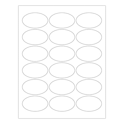 1.5 by 2.5 Oval Printable Labels