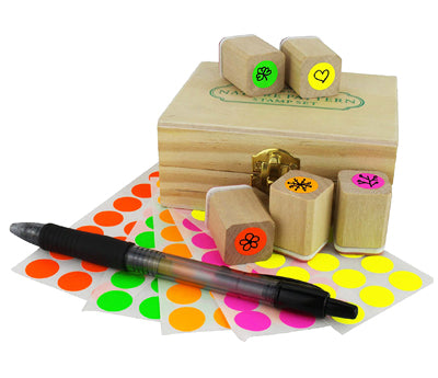 Color Code Stickers on artisan ink stamps
