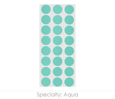 "0.5"" Aqua Round Labels on Sheets"
