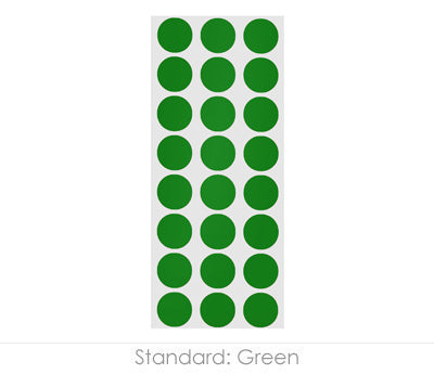 "0.5"" Green Round Labels on Sheets"