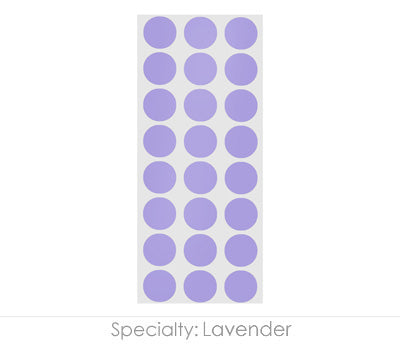 "0.5"" Lavender Round Labels on Sheets"