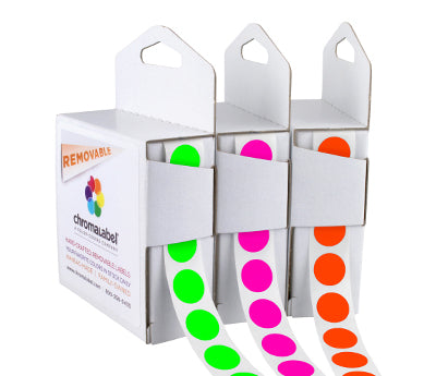 "0.5"" Clean Remove Neon Color Code Labels"