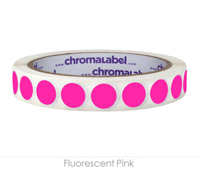"0.5"" Neon Pink Removable Circle Labels"