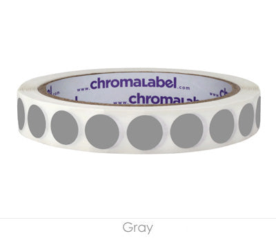 "0.5"" Gray Removable Circle Labels"