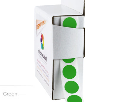 "0.5"" Removable Green Dot Labels"