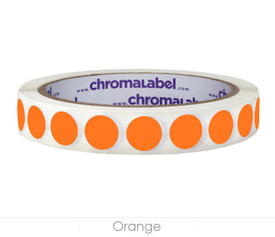 "0.5"" Orange Removable Circle Labels"