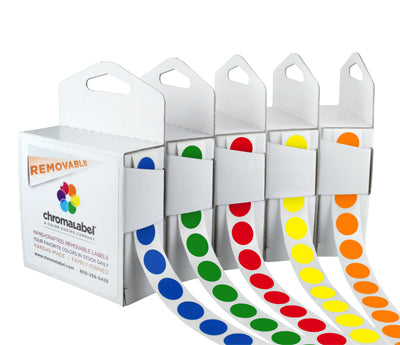 "0.5"" Clean Remove Color Coding Labels"
