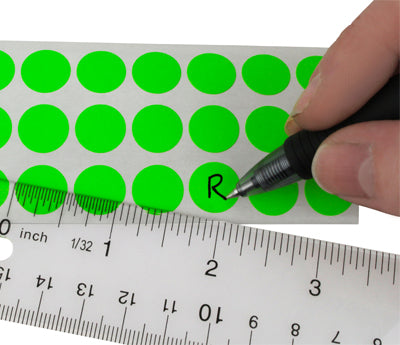 "0.5"" Writable Clean Remove Dots on Sheets"