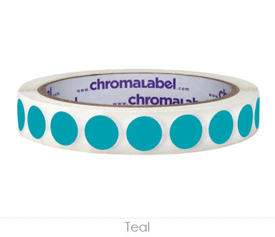"0.5"" Teal Removable Circle Labels"