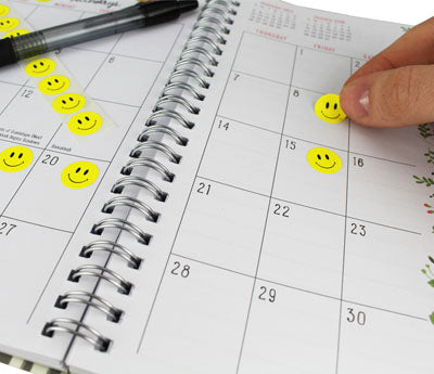 "0.5"" Happy Face Dots on Calendar"