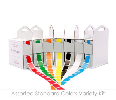 Square Colored Stickers Variety Kit (1/2