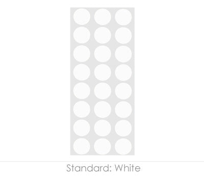 "0.5"" White Round Labels on Sheets"