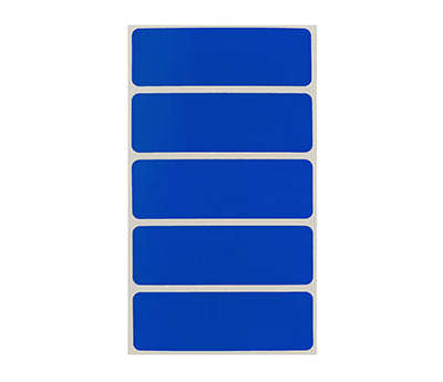 "1"" x 3"" Dark Blue Rectangle Labels"