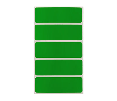 "1"" x 3"" Green Rectangle Labels"