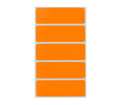 "1"" x 3"" Orange Rectangle Labels"