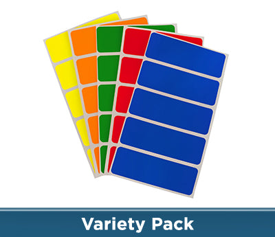 "1"" x 3"" Primary Colors Rectangle Labels"