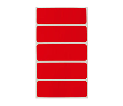 "1"" x 3"" Red Rectangle Labels"