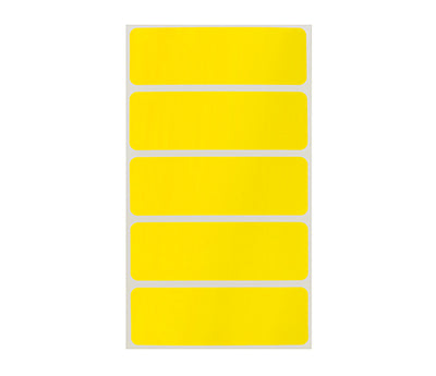 "1"" x 3"" Yellow Rectangle Labels"
